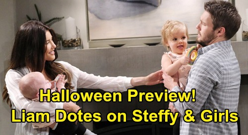 The Bold and the Beautiful Spoilers: Halloween Preview – Hope Crashes Party to Confront Thomas – Liam Dotes on Steffy and the Girls