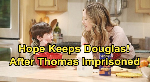 The Bold and the Beautiful Spoilers: Thomas Arrested and Put Away After Beth Reveal - Hope Becomes Douglas' Main Parent?