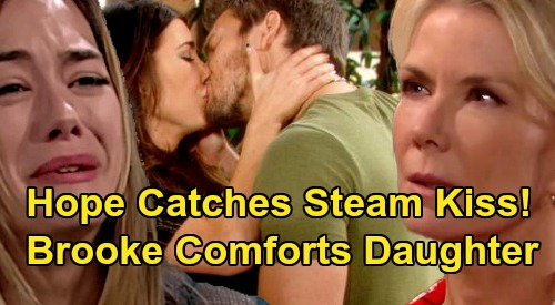 The Bold and the Beautiful Spoilers: Hope Breaks Down, Catches Liam & Steffy's Passion – Brooke Comforts Betrayed Daughter