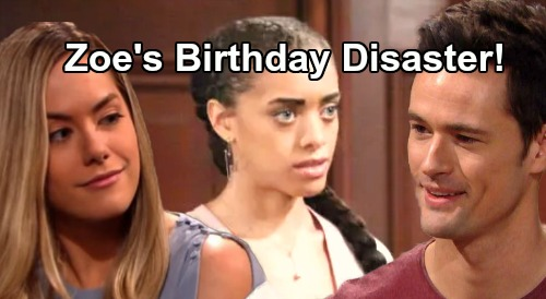 The Bold and the Beautiful Spoilers: Zoe's Surprise Birthday Bash Blows Up – Thomas' Hope Obsession Brings Party Disaster