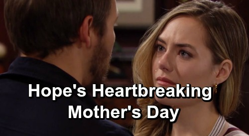 The Bold and the Beautiful Spoilers: Hope's Heartbreaking Mother's Day - Will She Embrace Motherhood With Douglas?