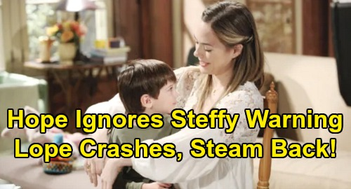 The Bold and the Beautiful Spoilers: Hope Ignores Steffy's Warning, 'Lope' Breakup Results – Thomas' Plan Gives Liam Back to Steffy