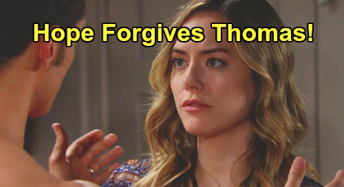 The Bold and the Beautiful Spoilers: Hope Forgives Thomas After Medical Issue Explains Wild Behavior – Unexpected Thope Outcome?