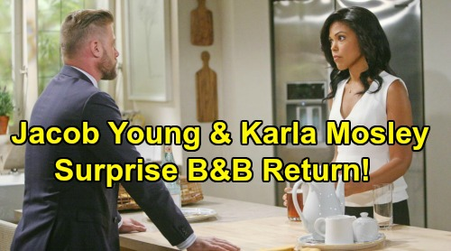 The Bold and the Beautiful Spoilers: Jacob Young & Karla Mosley Return - Maya Back for Love Triangle With Carter and Rick?
