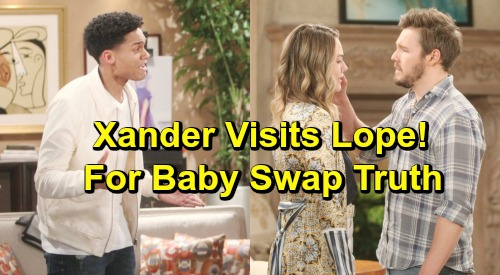 The Bold and the Beautiful Spoilers: Xander Visits Liam and Hope To Reveal Baby Swap