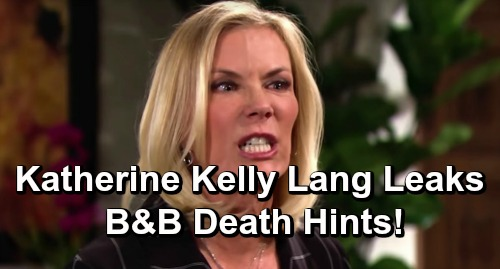 The Bold and the Beautiful Spoilers: Katherine Kelly Lang Leaks B&B Death Hints – What We Know About Who Dies and When