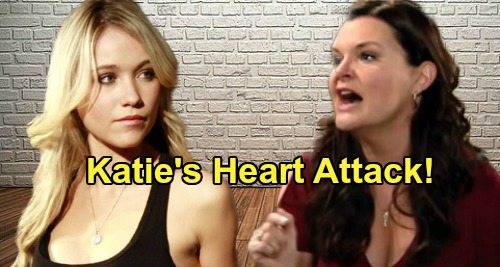 The Bold and the Beautiful Spoilers: Katie's Deadly Heart Crisis – Attack on Flo Brings Brings Frightening Consequences
