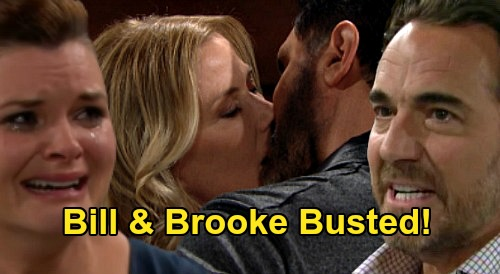 The Bold and the Beautiful Spoilers: Quinn Tips Off Katie & Ridge - Astonished Pair Catch Bill & Brooke Cheating?