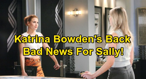 The Bold and the Beautiful Spoilers: Katrina Bowden Back on B&B Set – Flo Returns to Steal Wyatt's Heart, Bad News for Sally