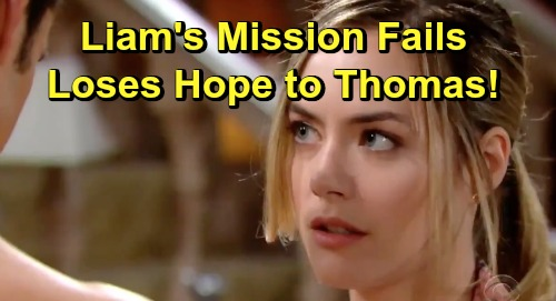The Bold and the Beautiful Spoilers: Liam's Desperate Mission To Stop Thomas Fails - Loses Hope to Douglas' Scheming Dad?