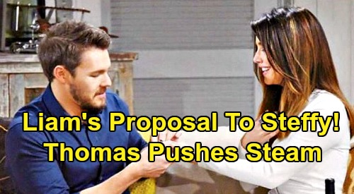 The Bold and the Beautiful Spoilers: Thomas Pushes for Quick 'Steam' Engagement - Needs Liam's Proposal to Steffy ASAP?