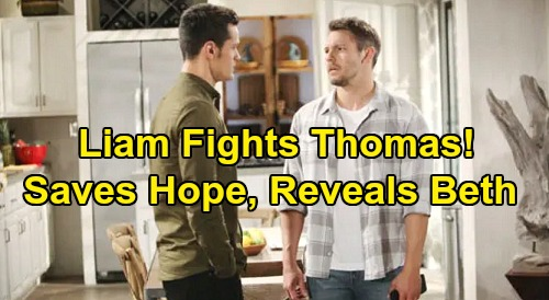 The Bold and the Beautiful Spoilers: Liam Rescues Hope After Fierce Thomas Fight - Stunned Mom Gets Beth Reunion