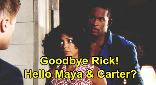 The Bold and the Beautiful Spoilers: Maya and Carter Turn Up the Heat – Goodbye Rick, Hello Hot Carter Reunion?