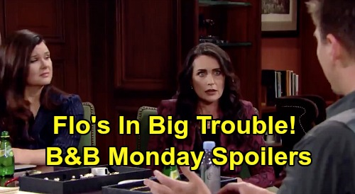 The Bold and the Beautiful Spoilers: Monday, April 20 - Flo Confronts Sally, Violence Follows - Quinn & Katie Hear Wyatt's Guilt