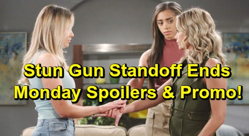 The Bold and the Beautiful Spoilers: Monday, April 29 - Thomas Makes a Move On Hope - Stun Gun Standoff Resolved