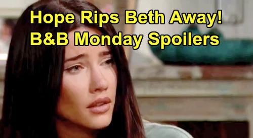The Bold and the Beautiful Spoilers:Monday, August 12 - Steffy Falls Apart As Hope Leaves With Beth - Flo Weighs Wyatt's Apology