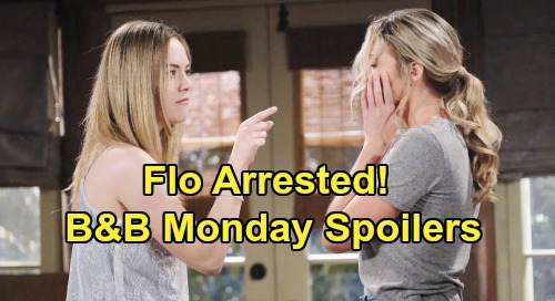 The Bold and the Beautiful Spoilers: Monday, August 19 - Flo Arrested in Front of Shauna - Ridge & Brooke Demand Justice