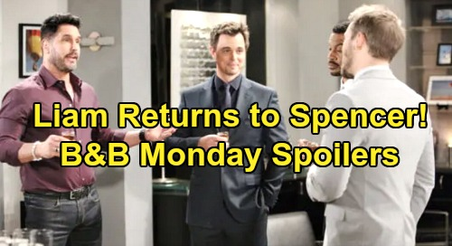 The Bold and the Beautiful Spoilers: Monday, December 2 - Ridge Falling For Shauna - Liam Returns To Spencer Publications