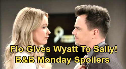 The Bold and the Beautiful Spoilers: Monday, February 17 - Flo Wants Wyatt To Be With Sally - Hope Defends Thomas, Puts Liam Down