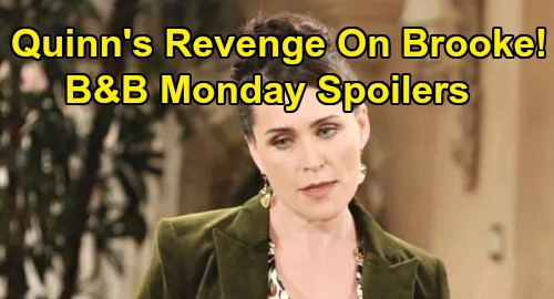 The Bold and the Beautiful Spoilers: Monday, January 20 - Wyatt Struggles To Dump Sally - Quinn Vows Revenge On Brooke