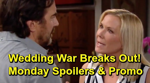 The Bold and the Beautiful Spoilers: Monday, July 15 – Hope's Moved-Up Wedding Date Brings Marriage War