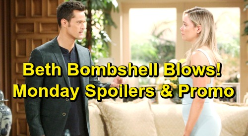 The Bold and the Beautiful Spoilers: Monday, June 10 – Flo Accused of Lying, Thomas Struggles to Believe Horrific Beth Bombshell
