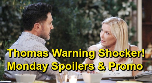The Bold and the Beautiful Spoilers: Monday, June 24 - Emma's Death Prompts Thomas' Coverup - Bill's Warning Shocks Brooke