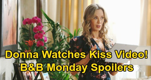 The Bold and the Beautiful Spoilers: Monday, March 23 - Flo Pays Lying Sally A Visit - Donna Sees 'Brill' Kiss Video