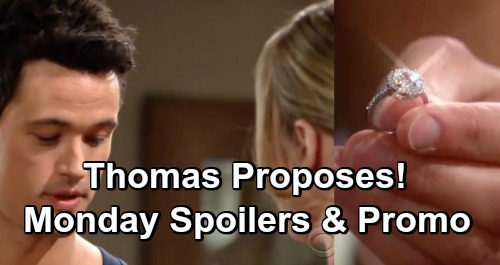 The Bold and the Beautiful Spoilers: Monday, May 6 Video Preview - Thomas Proposes To Hope - Wyatt Goes Ballistic at Sally