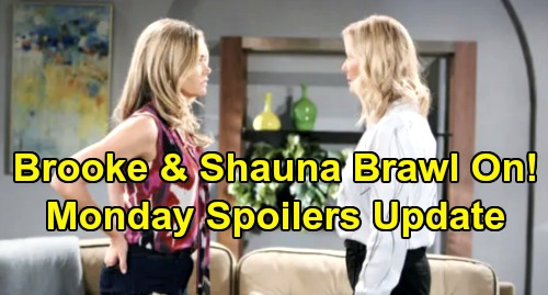 The Bold and the Beautiful Spoilers: Monday, October 7 - Thomas Thrilled Ridge Living With Steffy - Brooke & Shauna Brawl Continues