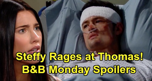 The Bold and the Beautiful Spoilers:Monday, September 9 - Steffy Rages At Thomas - Ridge Manipulates Thomas' & Flo's Futures