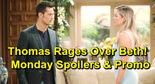 The Bold and the Beautiful Spoilers: Monday, June 10 Update – Thomas Rages at Flo Over Beth – Hope Fed Up with Brooke