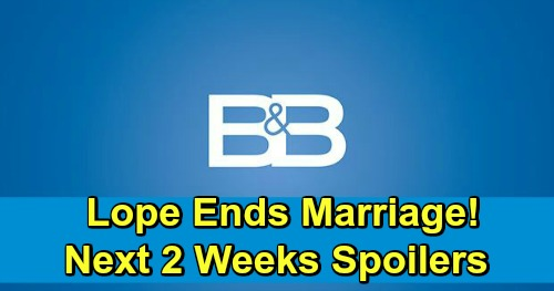The Bold and the Beautiful Spoilers Next 2 Weeks: Flo Meets Hope To Confess - Lope's Short Marriage Ends?