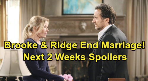 The Bold and the Beautiful Spoilers Next 2 Weeks: Brooke & Ridge End Marriage - Hope's Admission to Liam – Thomas' Moment To Strike