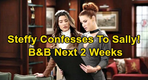The Bold and the Beautiful Spoilers Next 2 Weeks: Sally's Lips Sealed – Zoe Falls For Thomas, Steffy & Liam Panic - Shauna Learns Secret