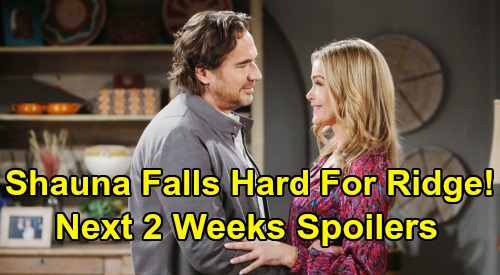 The Bold and the Beautiful Spoilers Next 2 Weeks: Shauna Falls Hard For Ridge – Flo's Detective Work Exposes Sally