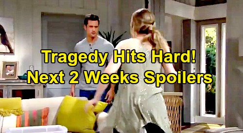 The Bold and the Beautiful Spoilers Next 2 Weeks: Tragedy Hits Logans and Forresters Hard - Bill's Revenge on Baby Swap Schemers
