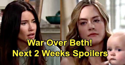 The Bold and the Beautiful Spoilers Next 2 Weeks: Wild War Over Beth Erupts – Steffy's Heart Left With Gaping Hole