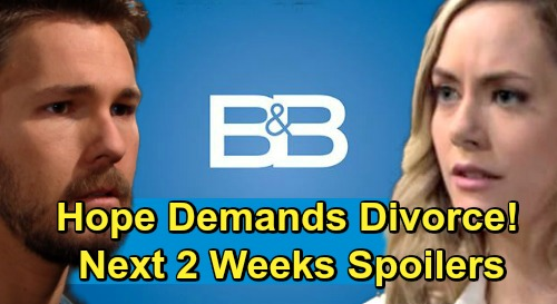 The Bold and the Beautiful Spoilers Next 2 Weeks: Hope Demands Divorce – Zoe Backs Down, Hides Beth Truth