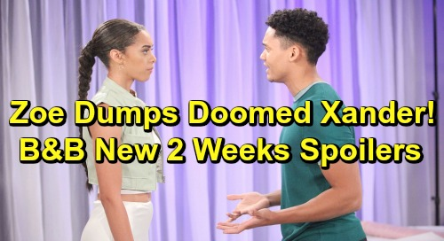 The Bold and the Beautiful Spoilers Next 2 Weeks: Sally's Terrible Blunder - Zoe Dumps Doomed Xander - Hope's Quickie Wedding