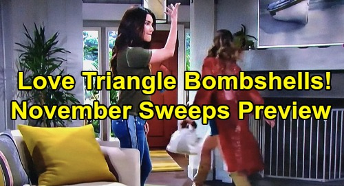 The Bold and the Beautiful Spoilers: Hot November Sweeps Preview – Love Triangle Bombshells, Sneaky Moves and Fierce Attacks