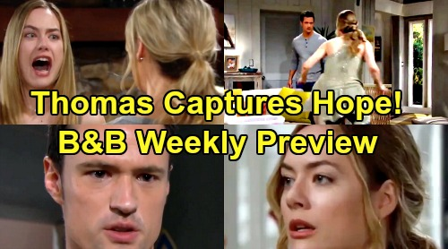 The Bold and the Beautiful Spoilers: Week of August 19 Preview – Thomas Captures Terrified Hope, Wants Wife Dead or Alive
