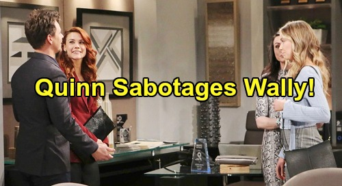 The Bold and the Beautiful Spoilers: Quinn's Sabotage – Shauna Wants Sally and Wyatt Destroyed for Flo's Sake
