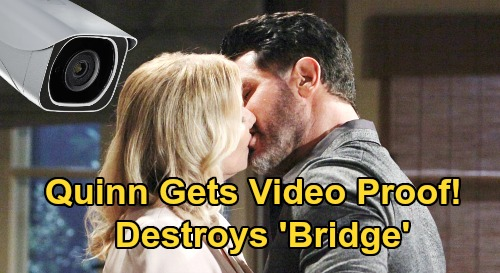 The Bold and the Beautiful Spoilers: Bill & Brooke Caught Cheating on Video, Quinn's Bombshell Evidence – Recording Ends 'Bridge'