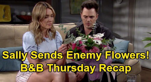 The Bold and the Beautiful Spoilers: Thursday, April 2 Recap - Sally Sends Flowers To Despised Enemy Flo - Urges Dr. Escobar To Chill