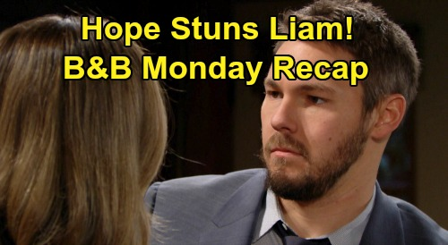 The Bold and the Beautiful Spoilers: Monday, December 30 Recap - Hope Stuns Liam - Thomas and Zoe's Overnight Passion