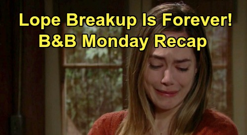 The Bold and the Beautiful Spoilers: Monday, January 13 Recap - Thomas Tells Steffy Reclaim Family - Hope Insists Liam Split is Forever