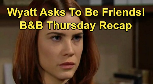 The Bold and the Beautiful Spoilers: Thursday, February 13 Recap - Wyatt's Surprise Offer To Sally - Thomas Turns The Tables On Hope
