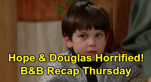 The Bold and the Beautiful Spoilers: Thursday, February 20 Recap - Hope & Douglas Horrified - Thomas Proposes To Zoe At Family Dinner