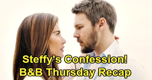 The Bold and the Beautiful Spoilers: Thursday, January 23 Recap - Steffy's Confession to Kiss Setup - Sally's Physical Breakdown